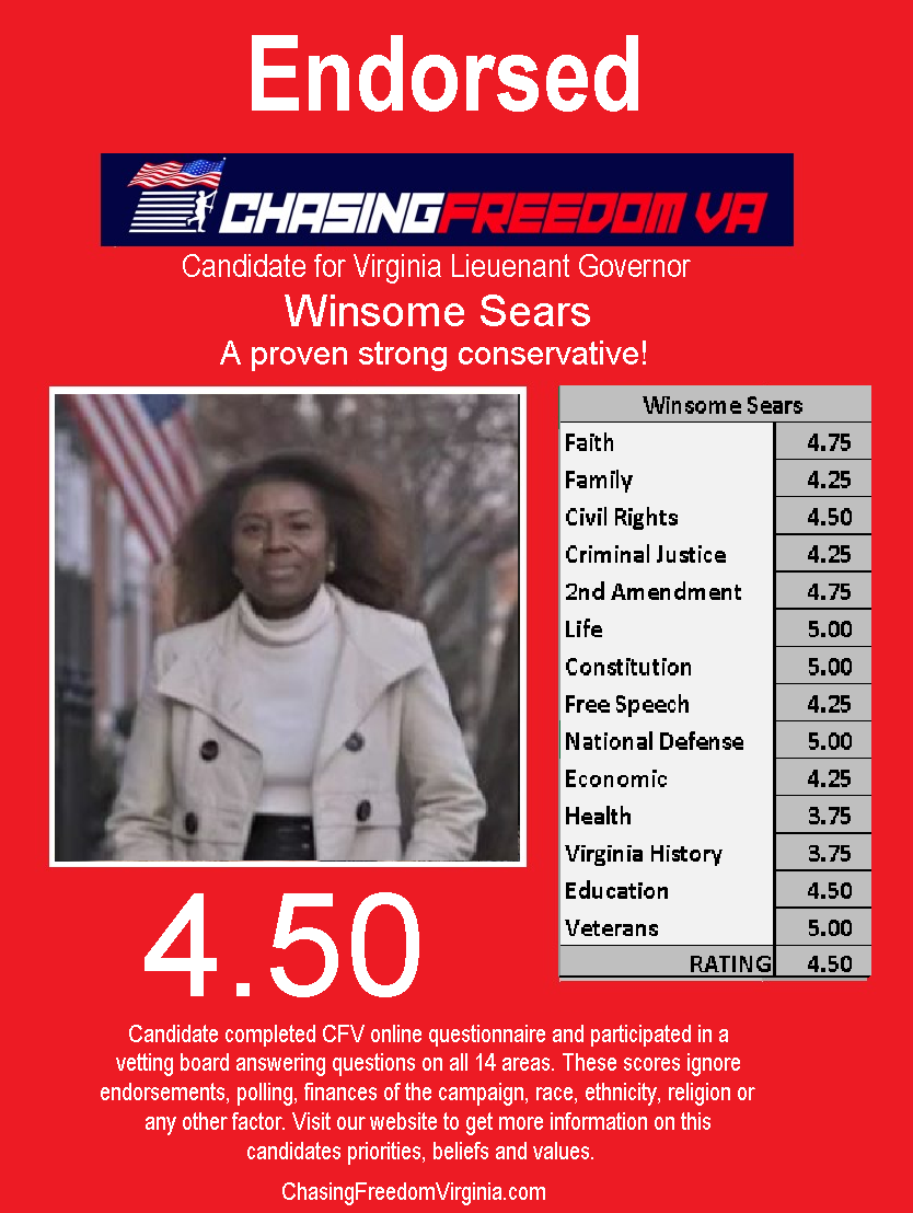 Winsome Sears (R)